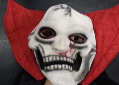 Bonte Koe Verhuur Maasland - Halloween Rugcape met engerd