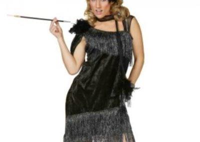 Bonte Koe Verhuur Maasland - Jaren '20 jurk volwassenen - Charleston