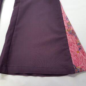 Bonte Koe Verhuur Maasland - Disco broek paars wijde uitloop
