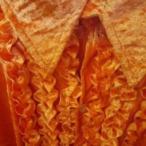 Bonte Koe Verhuur Maasland - Overhemd rouches oranje