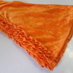 Bonte Koe Verhuur Maasland - Broek Flower Power rouches oranje wijde pijpen