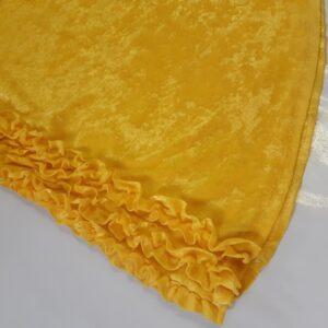 Bonte Koe Verhuur Maasland -Flower Power broek geel rouches