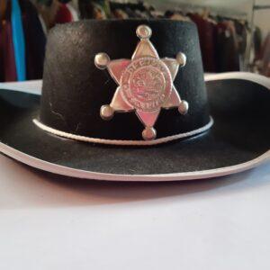 Bonte Koe Verhuur Maasland -Sheriff hoed zwart