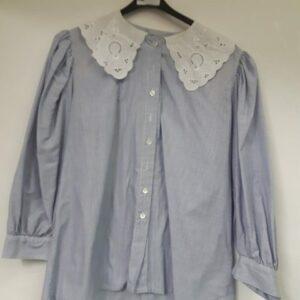 Bonte Koe Verhuur Maasland - Blauw blouse witte kraag
